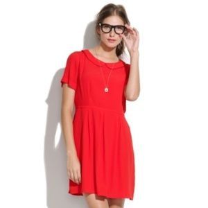 Broadway & Broome Soda Shop red rayon dress sz 10